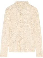 DKNY Flocked Lace Top - Cream