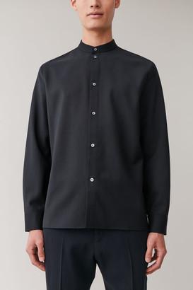 Cos Wool Grandad Collar Shirt