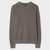 Paul Smith Men's Grey Cotton-Blend Textured-Knit Sweater