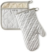 Williams-Sonoma Williams Sonoma Bay Stripe Mitt & Potholder Set, Drizzle