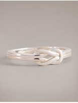 Autograph Sterling Silver Knot Ring