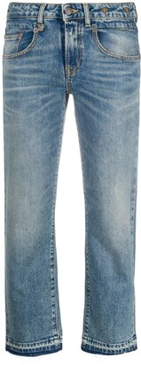 R 13 Boy mid-rise straight jeans