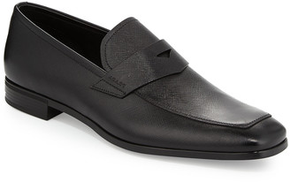 Prada Saffiano Leather Penny Loafer