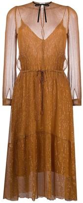 Forte Forte Tie-Neck Midi Dress