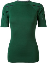 Nomia ribbed knit T-shirt - women - Nylon/Viscose - L