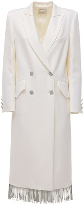 Giuseppe di Morabito Embellished Wool Blend Gabardine Coat