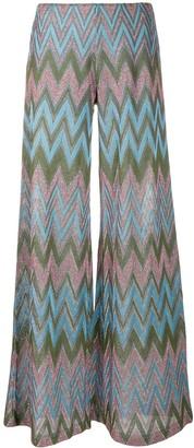 M Missoni Zig-Zag Knit Trousers