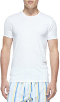 Derek Rose Jack Pima Cotton Stretch Crew Neck Tee, White