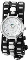 La Mer Women's Quartz Metal and Leather Casual Watch, Color:Black (Model: LMSW9051)