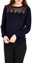Wallis Women's Lace Yoke Pullover