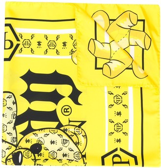 Philipp Plein All-Over Print Scarf