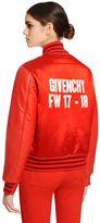 Givenchy Duchesse Satin & Leather Bomber Jacket