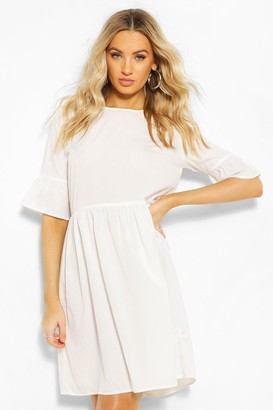 boohoo Frill Sleeve Skater Dress