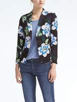 Banana Republic Floral Schoolboy-Fit Blazer