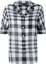 Theory checked blouse