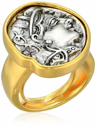Kenneth Jay Lane Adjustable Silver Coin Ring