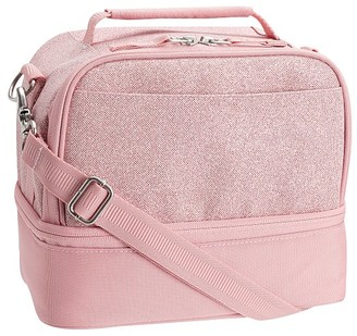 Pottery Barn Kids Mackenzie Pink Sparkle Glitter Lunch Boxes