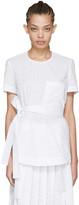 Cédric Charlier White Lace Pocket Blouse