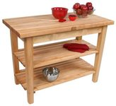 John Boos C03C-2S 60x24 Country Maple Tabel with Casters/2 Shelves & Henckels 13 Piece Knife Block Set