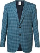 Kiton plaid blazer - men - Silk/Linen/Flax/Cashmere - 48