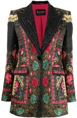 Etro Tuxedo Style Printed Blazer