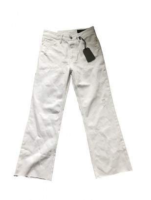 AllSaints White Cotton Jeans for Women