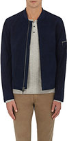 John Varvatos Men's Baseball Suede Jacket
