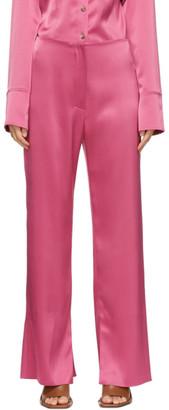 Nanushka Pink Satin Tabbi Trousers