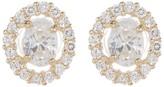 Candela 10K Gold Oval CZ Stud Earrings