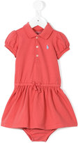 Ralph Lauren puff sleeves short dress - kids - Cotton - 12 mth