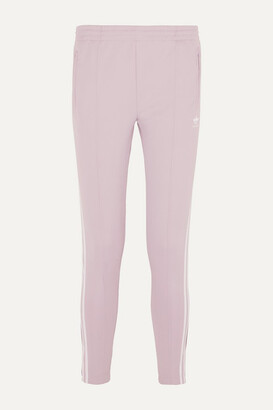 adidas Superstar Striped Satin-jersey Track Pants - Lilac