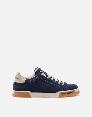 Dolce & Gabbana Split-Grain Leather Portofino Sneakers