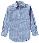 Class Club Big Boys 8-20 Button-Front Long-Sleeve Gingham Shirt