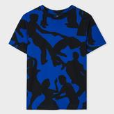 Paul Smith Women's Blue And Black 'Dancers' Cotton T-Shirt