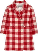 Ermanno Scervino Checked woollen cloth coat - Red