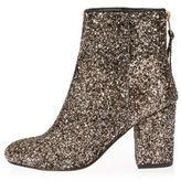 River Island Womens Gold glitter block heel ankle boots