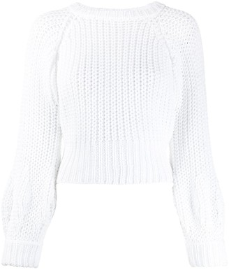 Maison Flaneur Chunky Knit Cropped Jumper