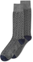 Alfani Men's Geodesic Grid Socks, Created for Macy's