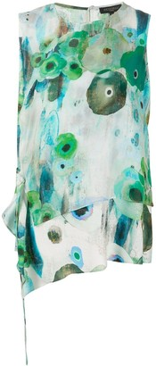 Antonelli Abstract Floral Print Blouse