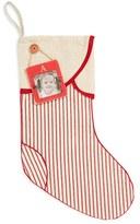 Mud Pie Linen Christmas Stocking & Initial Frame Ornament