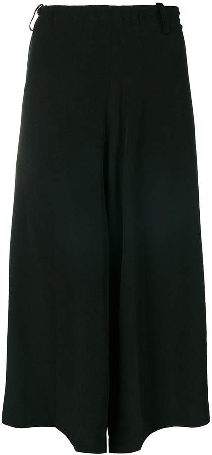 Y's relaxed crepe culottes
