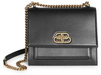 Balenciaga Small Sharp Leather Shoulder Bag