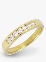 E.W Adams 18ct Yellow Gold Channel Set Diamond Half Eternity Ring