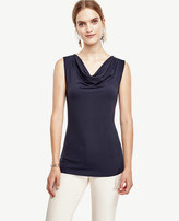 Ann Taylor Petite Sleeveless Cowl Neck Top