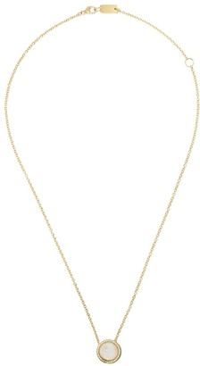 Ippolita 18kt yellow gold and white ceramic short Lollipop Carnevale crystal and diamond pendant necklace