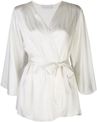 Fleur Du Mal Angel silk robe