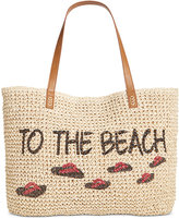 Style&Co. Style & Co To The Beach Straw Tote, Only at Macy's