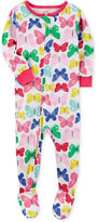 Carter's 1-Pc. Butterfly-Print Footed Pajamas, Baby Girls (0-24 months)
