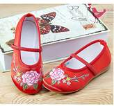 C'est Moi Girl Shoes Embroidery Dance Art Old Beijing Kid Shoes Chinese Style