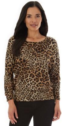 Apt. 9 Women's Fuzzy Button-Sleeve Top